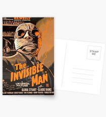 The Invisible Man - Retro Postcards