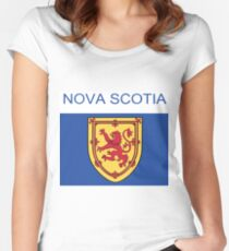 Nova Scotia Abstract Art  Women's Fitted Scoop T-Shirt