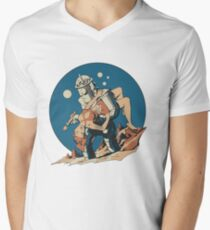Damsel in Space Men's V-Neck T-Shirt