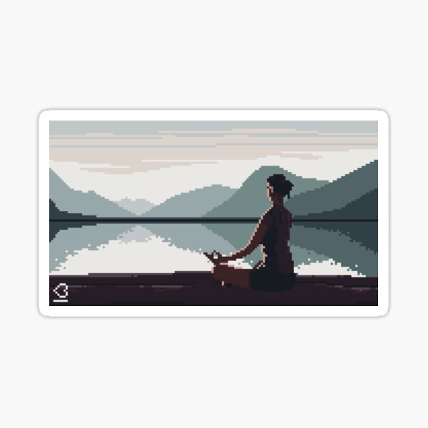 Meditation Sticker