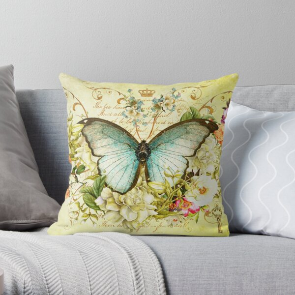 Shimmerfly Throw Pillow
