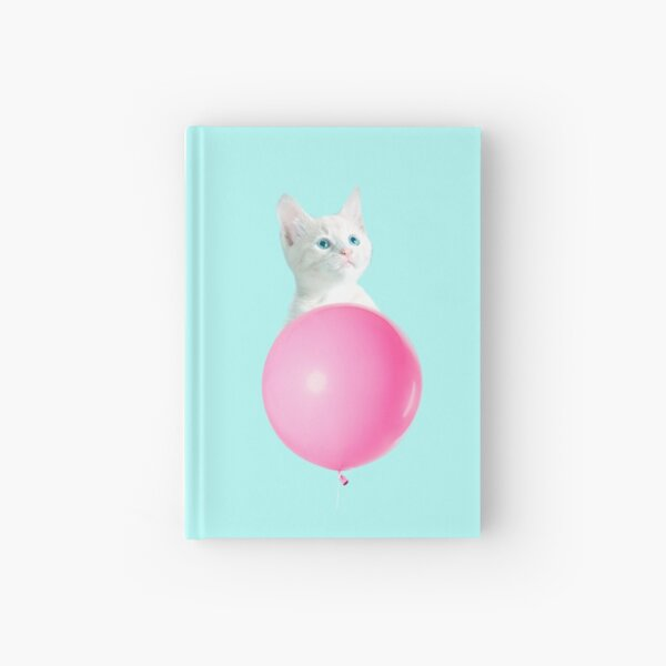 White Cat's Travel by Pink Balloon by Alice Monber Hardcover Journal