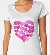 Valentine Day  romantic hearts Women's Premium T-Shirt