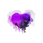 Watercolor ultra violet heart by ulyanaandreeva