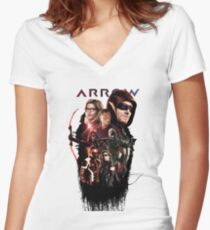 arrow season 6 Women's Fitted V-Neck T-Shirt