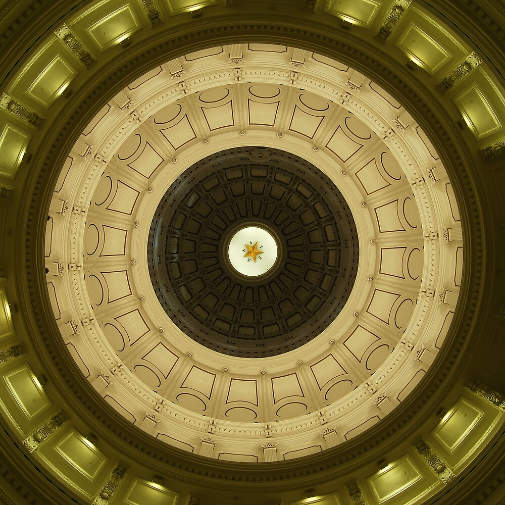 Texas State Capital building dome by lane777smith
