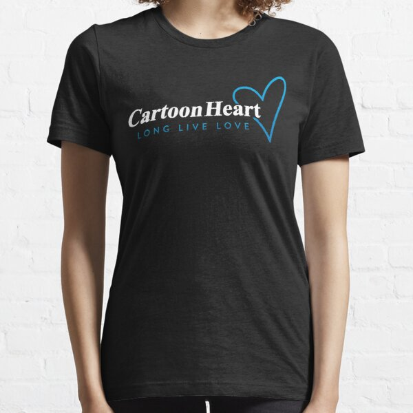 Cartoon Heart Logo Shirt - Blue Accent Essential T-Shirt