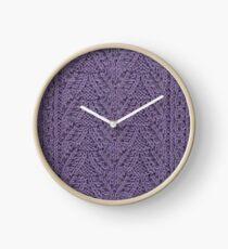 Pendant Purls - Purple Clock