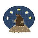 Mole stargazing by Elsbet