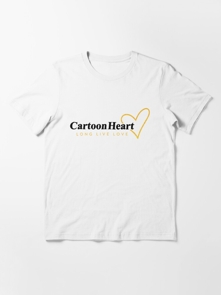 Alternate view of Cartoon Heart Logo Shirt - Gold Accent (light background) Essential T-Shirt