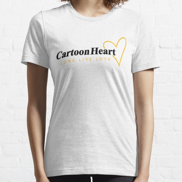 Cartoon Heart Logo Shirt - Gold Accent (light background) Essential T-Shirt