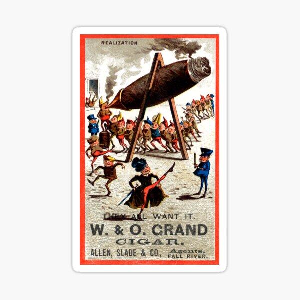 Los Cigarrillos Paris 1910 Vintage Poster Print Retro Style Spanish Cigar Art