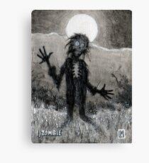 I, Zombie Canvas Print
