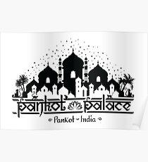 Indiana Jones - Pankot Palace India Blk Poster