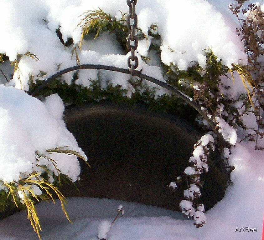 Pot full of snow by ArtBee