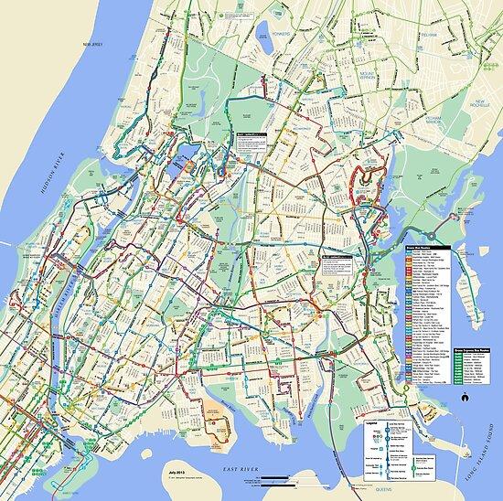 Bronx Bus Map The Bronx Bus Map   New York City   United States