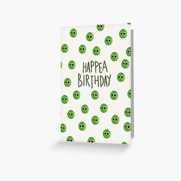 Hap(pea) Birthday Greeting Card