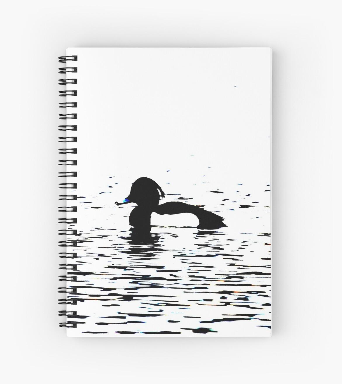 Stylized Tufted Duck artwork Waterbird Collection by derbyshireduck
