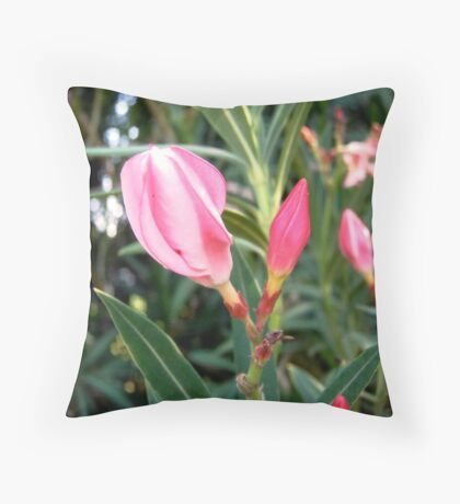 Oleander buds Throw Pillow