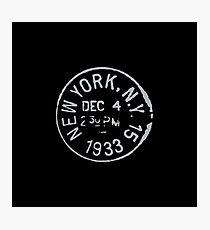 Vintage New York passport stamp Photographic Print