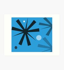 Dyno Blue Wall Tapestry Design by Jenny Meehan Art Print