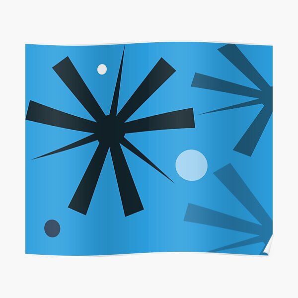 Dyno Blue Wall Tapestry Design by Jenny Meehan Poster