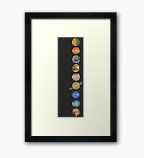 Our Solar System Framed Print