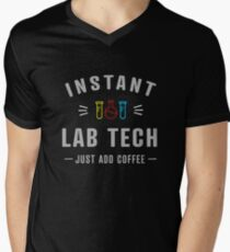 """Instant Lab Tech - just add coffee!"" Men's V-Neck T-Shirt"