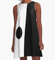 Mod Design Black and White Dress With Circle A-Line Dress