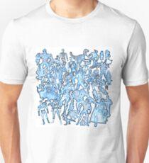 man cave toys print retro classic action figures 80s 90s Unisex T-Shirt
