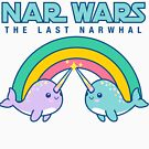 Kawaii Cute Style Nar Wars Save The Narwhals Narwales Narwales Funny Geek Wars Star Parody T shirt by DesIndie