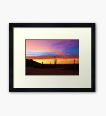Sunset in AZ2 Framed Print