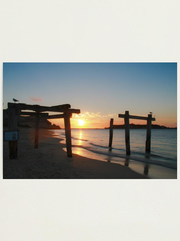 Alternate view of Hamelin Bay Sunset Photographic Print