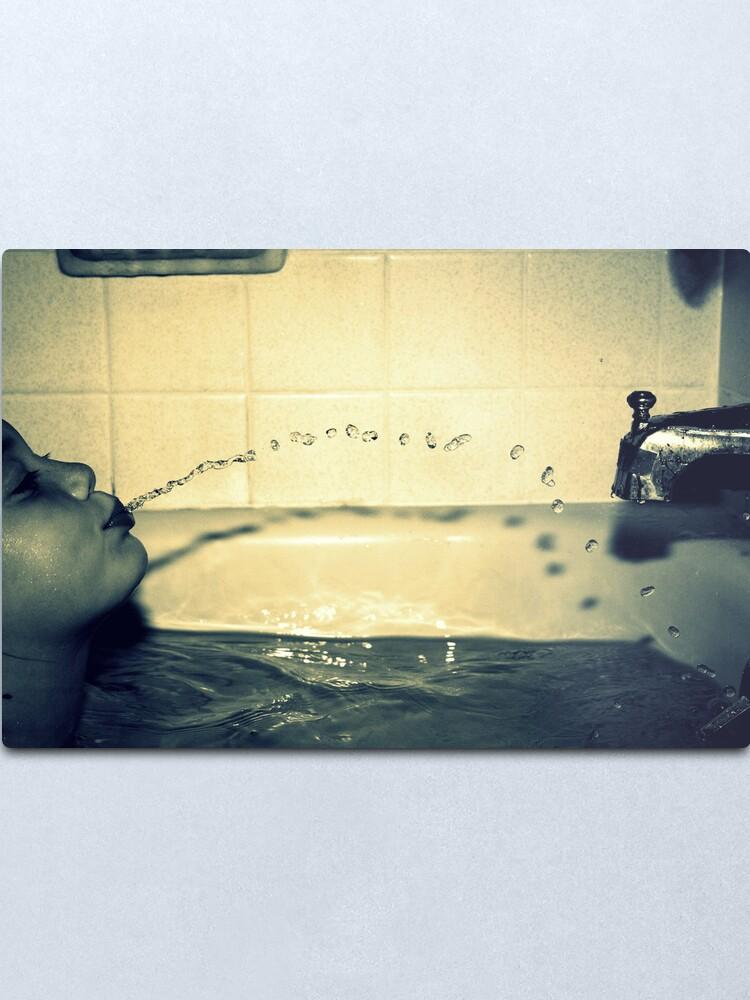 Alternate view of Bathtime Fun Metal Print