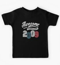 Awesome Since February 2009 Shirt Vintage 9th Birthday Kids Tee