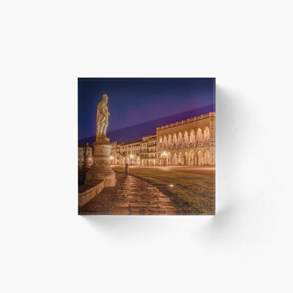 Prato della Valle, Padova, Italy Acrylic Block