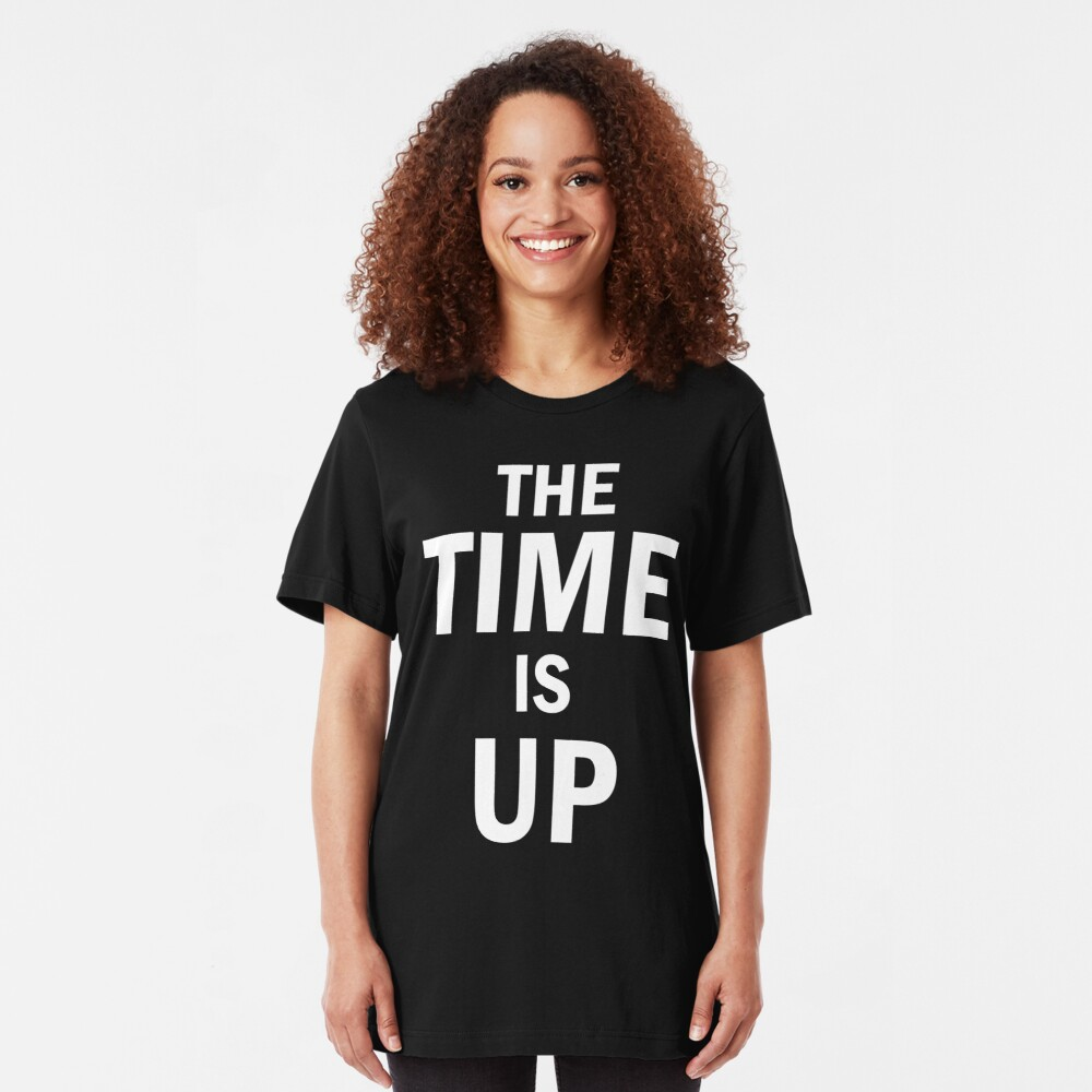 The time is up for injustice Slim Fit T-Shirt