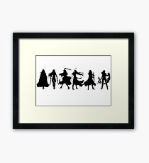 Throne of glass cover silhouettes  Framed Print