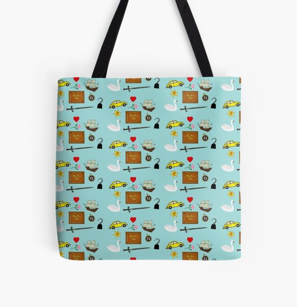 Captain Swan Comic Icons Pattern All Over Print Tote Bag