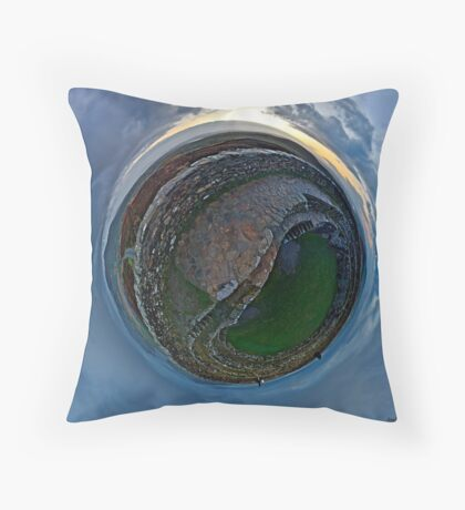 Winter Solstice Dawn over Grianan, Donegal, Ireland Throw Pillow