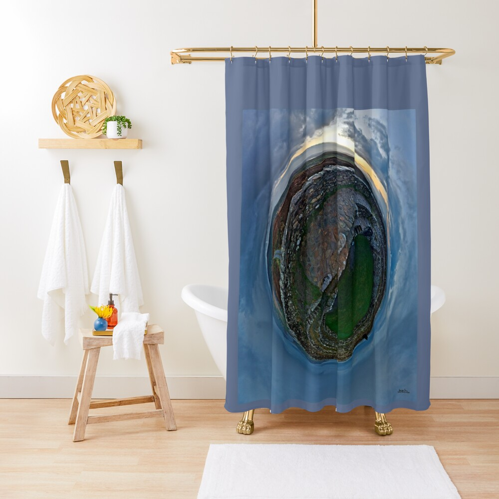 Winter Solstice Dawn over Grianan, Donegal, Ireland Shower Curtain