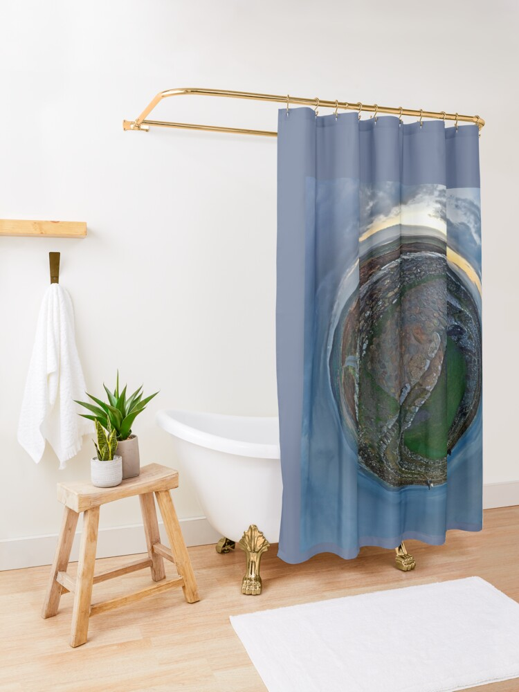 Alternate view of Winter Solstice Dawn over Grianan, Donegal, Ireland Shower Curtain