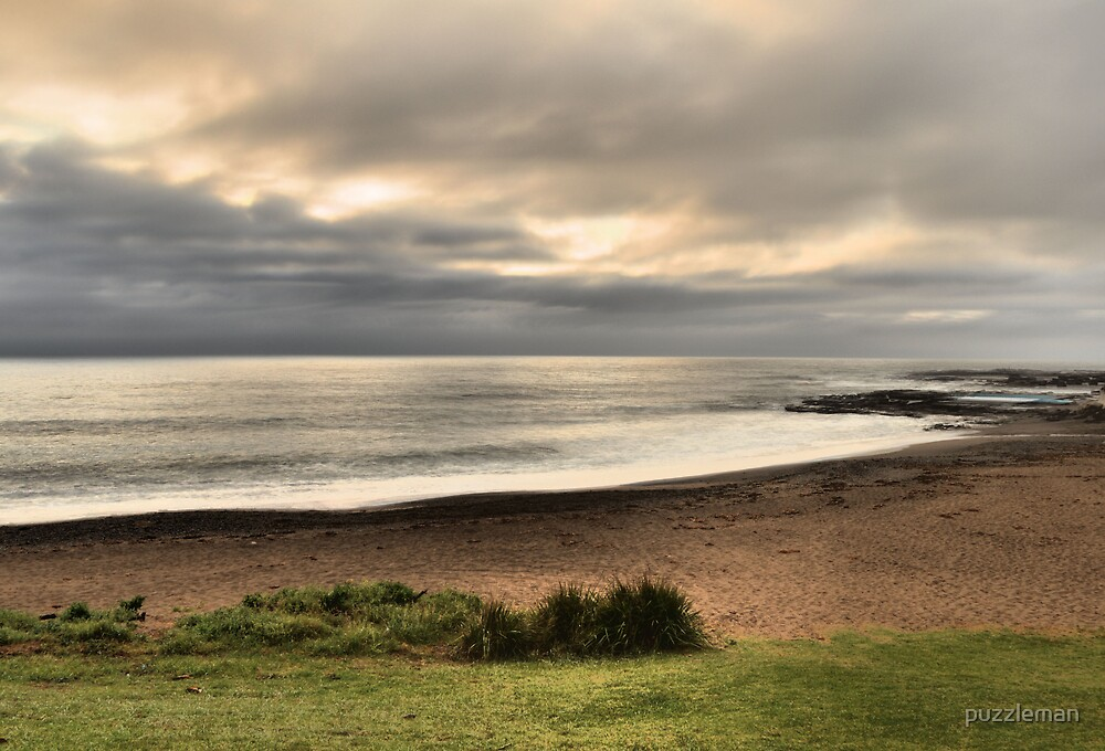 mystic clouds on coalcliff beach by puzzleman