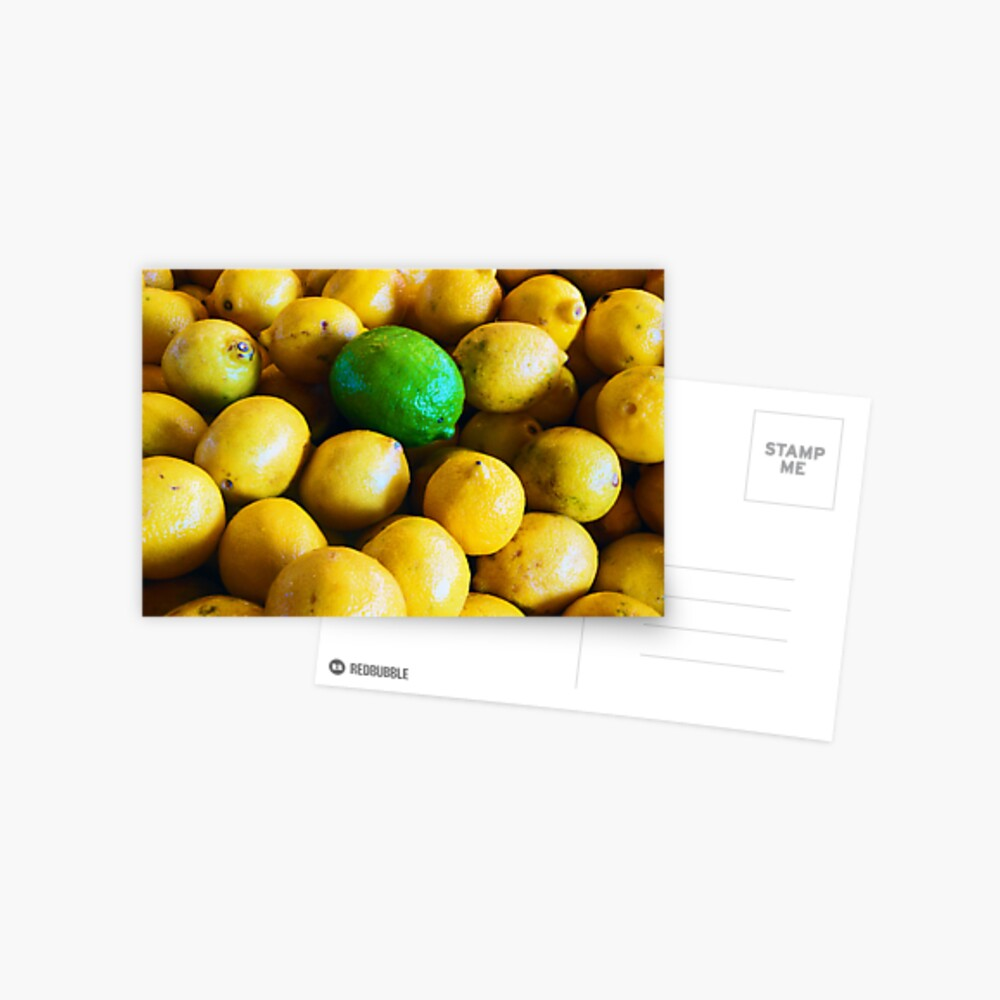 One Lonely Lime Postcard