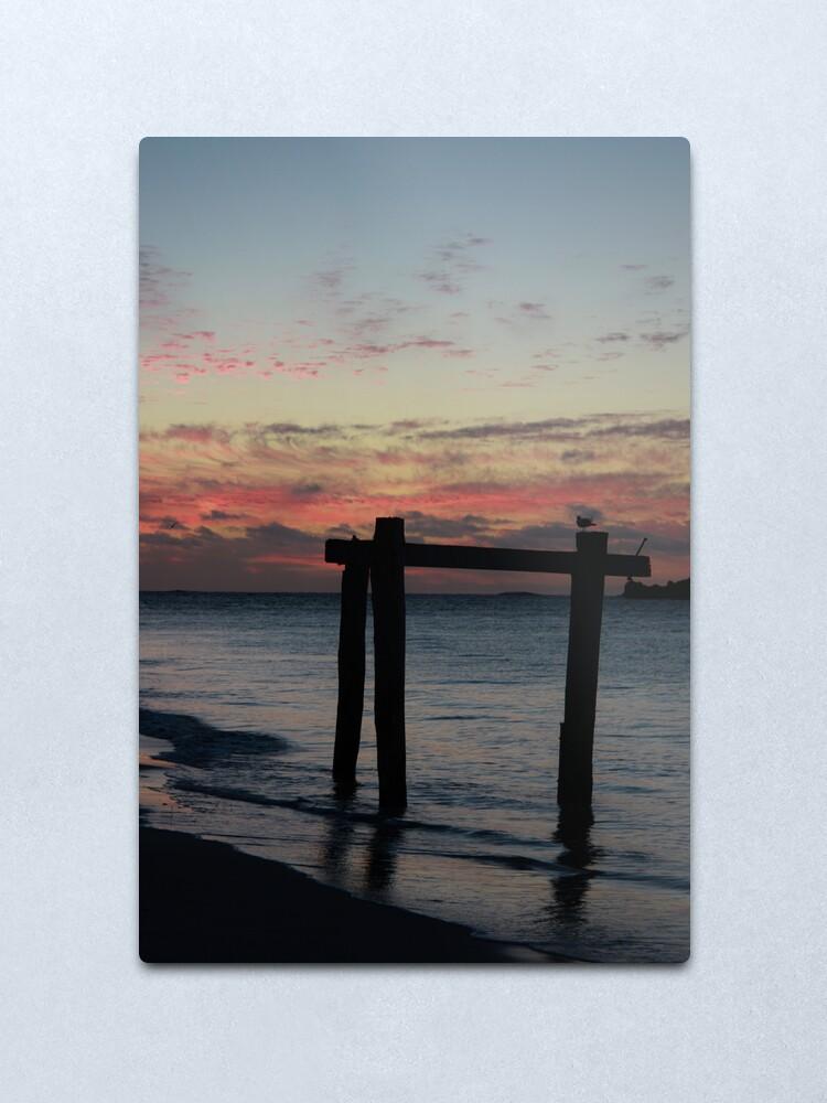 Alternate view of Hamelin Bay Sunset Metal Print