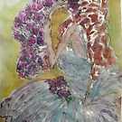 Violet Shower  by Dottie Phelps   Visker
