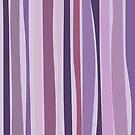 Retro Stripes Grape Purple by pawpapaya