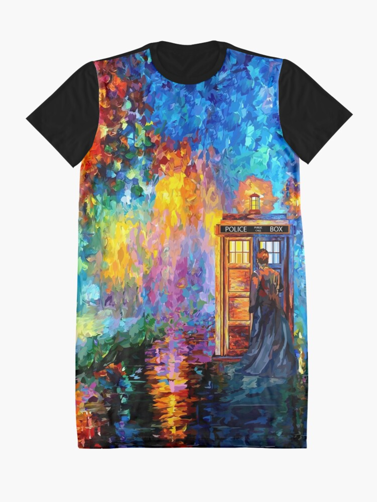 Alternate view of Mysterious Man at beautiful Rainbow Place Graphic T-Shirt Dress