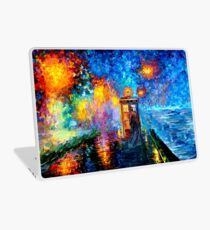 Mysterious Man at beautiful Rainbow Place Laptop Skin