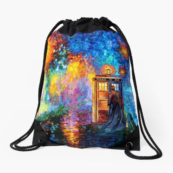 Mysterious Man at beautiful Rainbow Place Drawstring Bag